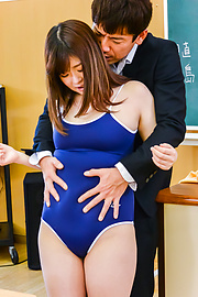 Kaho - Chubby Asian schoolgirl loves cock in her twat - Picture 1
