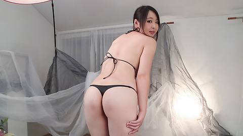 Yukari Emoto - Girl with big Asian boobs deals cock in POV style  - Picture 2