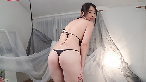 Yukari Emoto - Girl with big Asian boobs deals cock in POV style  - Picture 3