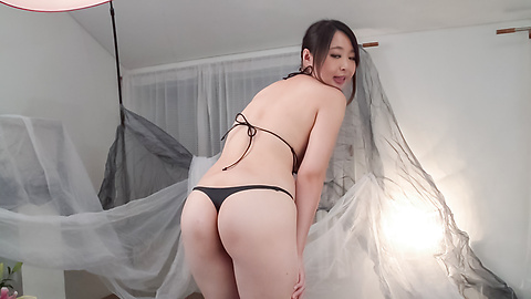 Yukari Emoto - Girl with big Asian boobs deals cock in POV style  - Picture 4