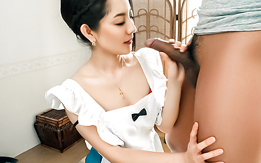 Anna Mihashi fucked and made to provide Asian blowjob