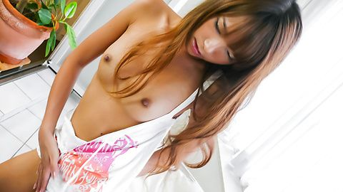 Misaki Tanemura - Teen Misaki Tanemura has an asian blowjob to give two guys - Picture 1