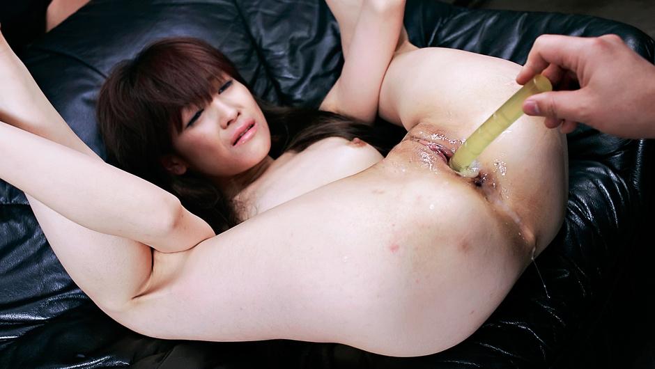 Strong anal play for Asian milf Megumi Morita