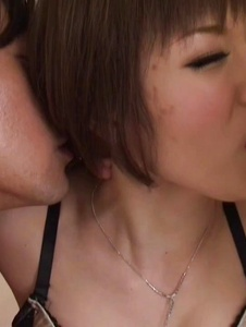 Mizuki - Mizuki tries two males during rough trio porn  - Screenshot 8