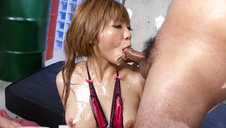 Housewife provides Japan blow job and POV sex