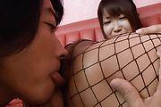 Teen Yuuno Hoshi Finger Fucked In Fishnets Photo 10