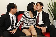 MILF Miho Wakabayashi Creampied By Two Guys Photo 3