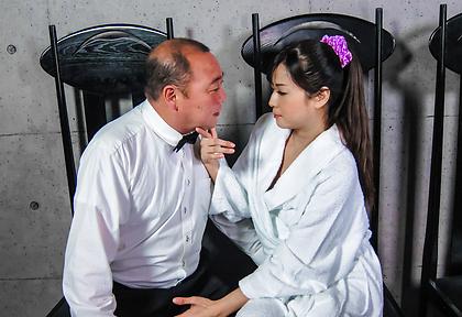 Mizuki Ogawa, Asian milf blows cock like a bimbo