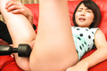Insolent asian japanese masturbating hard