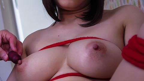 Mikuni Maisaki - Warm Asian blowjob by busty Japanese Mikuni Maisaki  - Picture 8