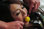 Perfect Japanese toy play with big titsReon Otowa Photo 2