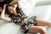 Perfect Japanese toy play with big tits Reon Otowa Photo 5