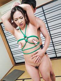 Saki Fujii - Nice Asian bondage along cock suckingSaki Fujii - Picture 6
