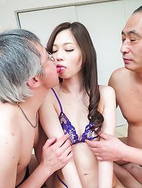 Misaki Yoshimura - Misaki Yoshimura gets pumped in a rough Asian threesome - Picture 4