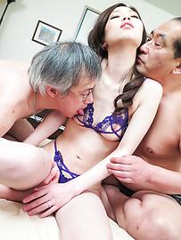 Misaki Yoshimura - Misaki Yoshimura gets pumped in a rough Asian threesome - Picture 5