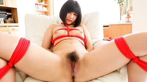 Mari Koizumi - 布鲁内特马里小泉沿顶部 jav 束缚 - 图片 5