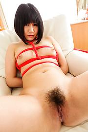 Mari Koizumi - 布鲁内特马里小泉沿顶部 jav 束缚 - 图片 6
