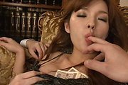 Hot and slim Mei Haruka double oral and MMF Photo 10