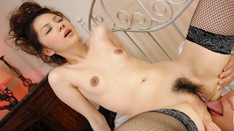 Rika Koizumi - Rina Koizumi in sexy stockings fucking three man with blowjobs - Picture 10