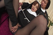 Asian milf gets busy with cock in hardcore threesome  Photo 10