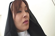 Hot Nun Hitomi Kanou Strip For Double Penetration Photo 2