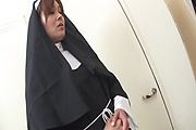 Hot Nun Hitomi Kanou Strip For Double Penetration Photo 3