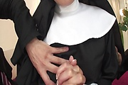 Hot Nun Hitomi Kanou Strip For Double Penetration Photo 7