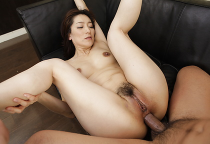 Asian milf feels cocks in each of her holes