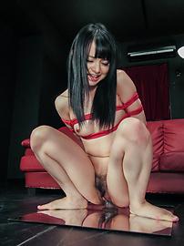 Nozomi Aiuchi - Nozomi Aiuchi rides a dildo in japanese bondage rope - Picture 12