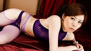 Keito Miyazawa fucked and creamed in asian lingerie