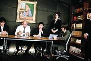 Office lady Maki Hojo gets gang banged on the desk Photo 1