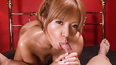 Nice Asian bondage along cock suckingSaki Fujii