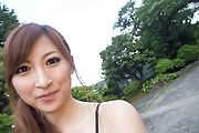 Outdoor Japanese street porn with Reira Aisaki Photo 1