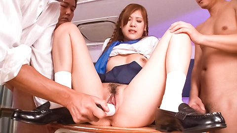 Sexy Teen Yura Kasumi Cums From Toys In A Threesome