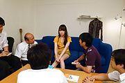 Moe Sakura - Moe Sakura gives guys a japan blowjob while masturbating - Picture 8