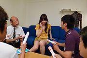 Moe Sakura - Moe Sakura gives guys a japan blowjob while masturbating - Picture 9