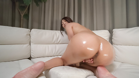 Reiko Kobayakawa - Busty woman amazes with a double Japanese blowjob  - Picture 6