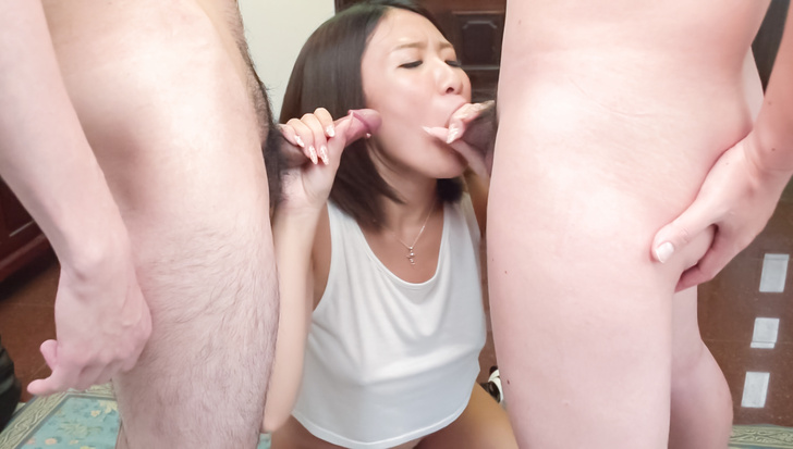 Strong office head fuck trio with  Makoto Kasai