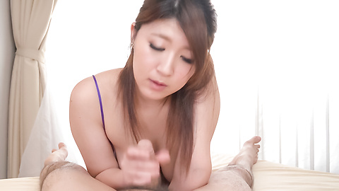 Rina Araki - Amazing Asian POV blowjob by busty Rina Araki - Picture 1