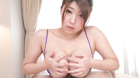Amazing Asian POV blowjob by busty Rina Araki
