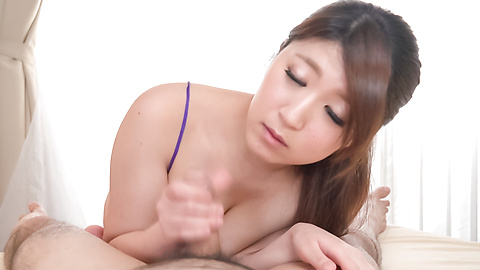Rina Araki - Amazing Asian POV blowjob by busty Rina Araki - Picture 3