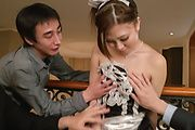 Maki Horiguchi amazes with a long Asian blowjob  Photo 9
