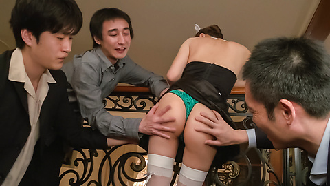 Maki Horiguchi - Double Asian blowjob by slim Maki Horiguchi - Picture 6