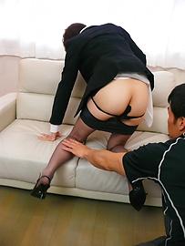 Akina Hara - Akina Hara毛茸茸的陰戶忌廉亞洲口交後 - 圖片10