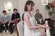 Stunning Asian blowjob in gangbang scenes with Narumi Ayase Photo 1