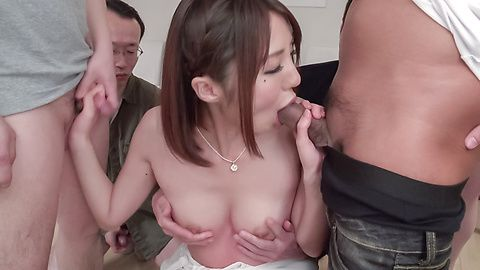 Japan blowjob in group scenes for Narumi Ayase