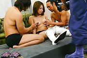 Mariru Amamiya japanese av girl feels a creampie drip Photo 1
