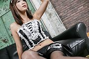 Maid av girl Momoka Rin gets pounded in her stockings Photo 2