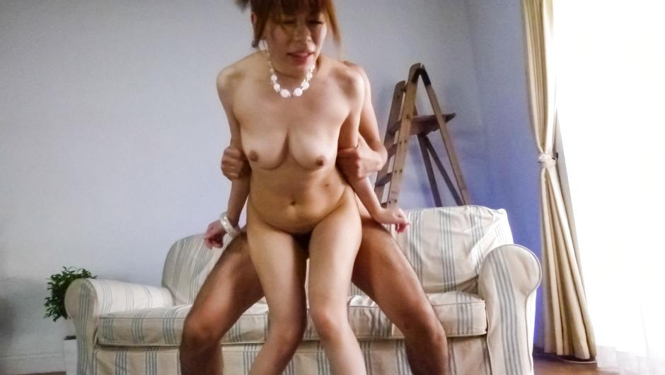 Asian milf in heats enjoys cock deep in her tight pussy