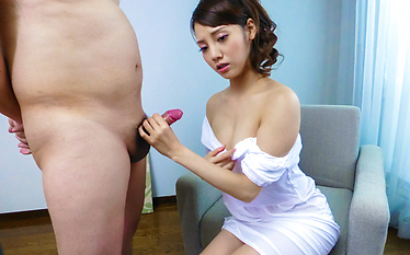 Hot Japanese blowjob with sexy Rei Mizuna